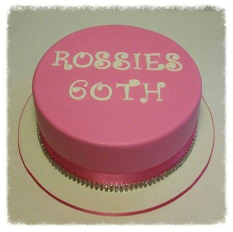 Pink 60th Birthday cake.