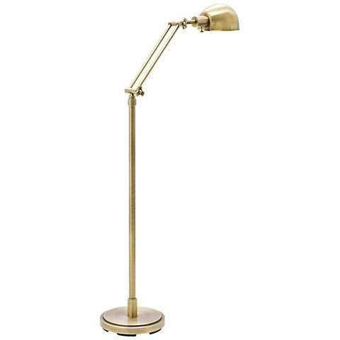 House of Troy Addison Adjustable Antique Brass Floor Lamp - #8W875 | Lamps Plus