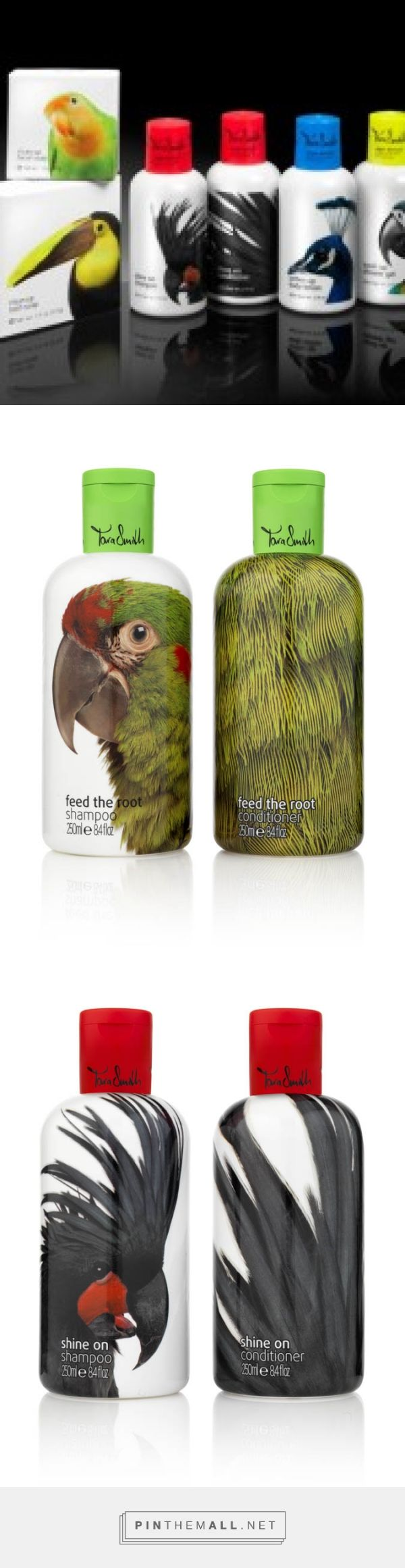 Tara Smith vegan hair products via mummyliciousbeauty curated by Packaging Diva PD. Sex and the City stylist Tara Smith cleverly designed colorful packaging.