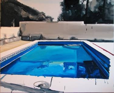259 best swimming pool art paintings of pools images on pinterest for Swimming pool luxembourg kirchberg