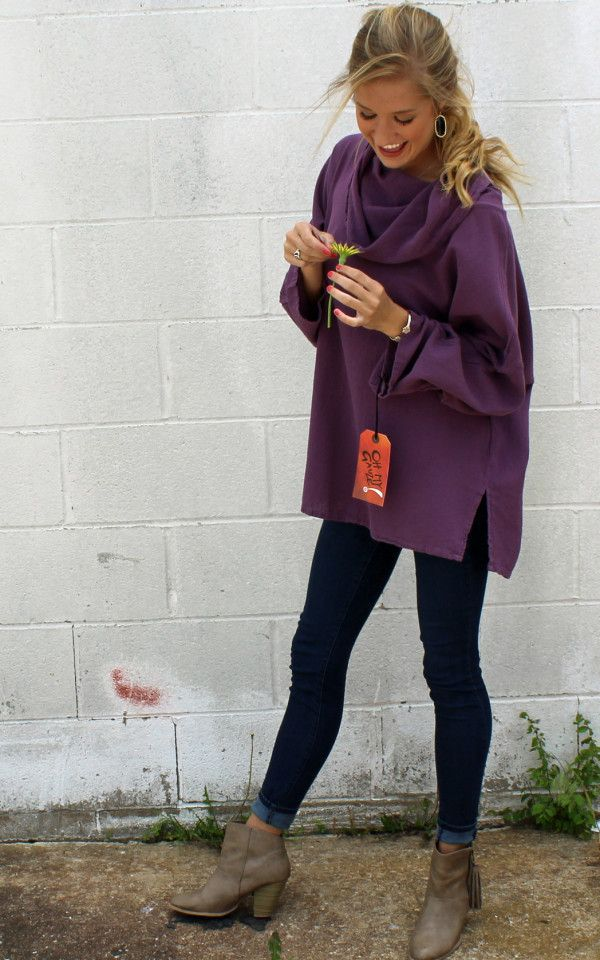 Tortus Top in Lavender by Oh My Gauze Clothing Cotton Clothing Lagenlook Clothing