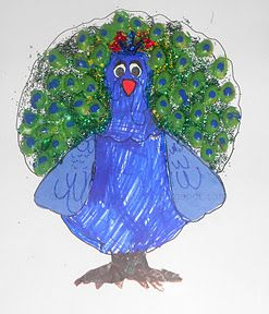 Turkey Disguise project - Disguise him as a peacock