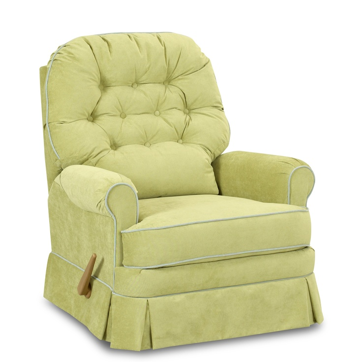 Albany Swivel Gliding Recliner Chair   In Bleach White