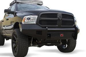 FabFours BLACK STEEL No Guard Front Bumper 2013+ DODGE 1500 DR13-K2961-1 - BumperOnly