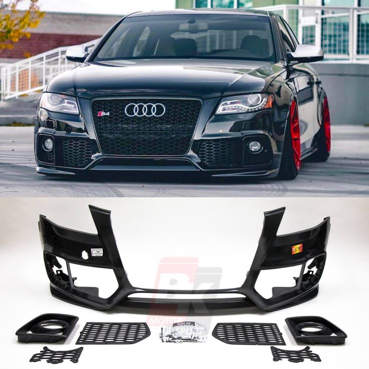 caractere audi a4 b8 0 rs style front bumper no pdc is now. Black Bedroom Furniture Sets. Home Design Ideas