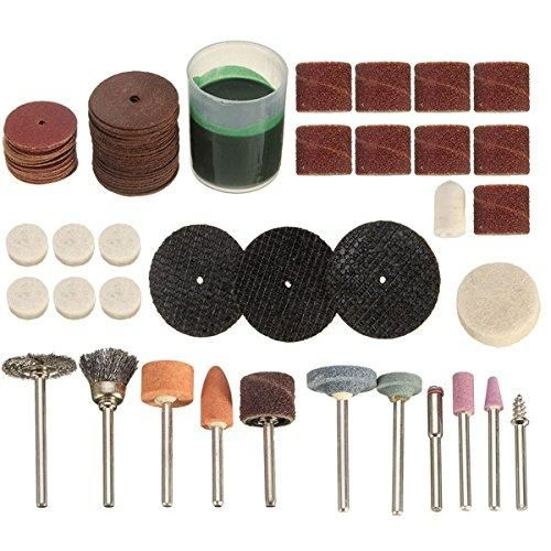 [Visit to Buy] 105pcs Rotary Tool Accessories Power Tool Abrasive Tools Kit Dremel Fits Drilling Sawing Cutting Grinding Polishing Sharpening #Advertisement