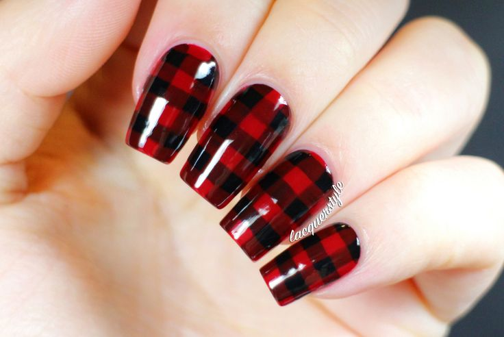 plaid nails - Google Search