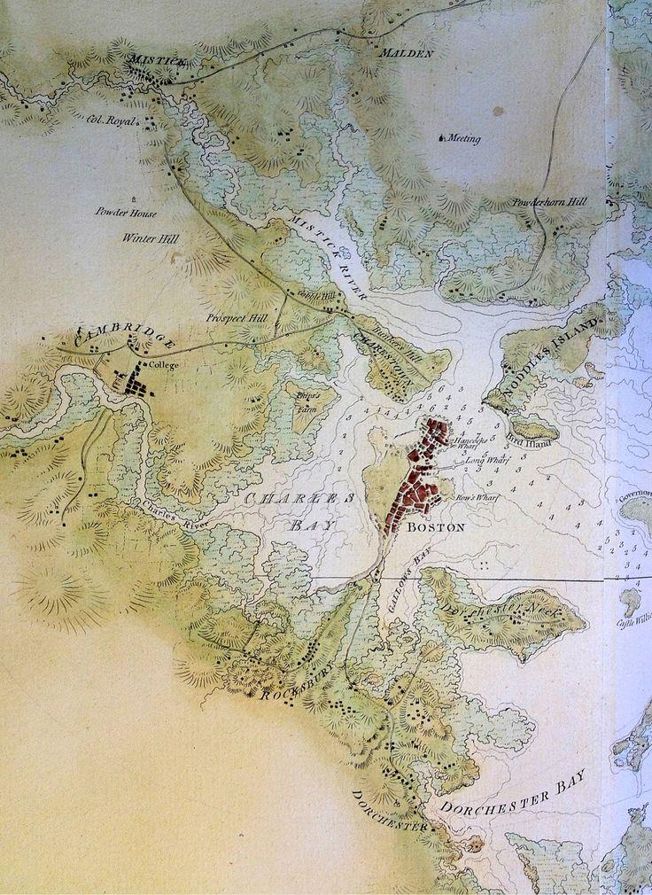 """Boston Bay"" 1776. Joseph Frederick Wallet Des Barres (publisher)."