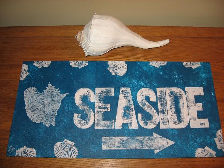 """Seaside"" sign"
