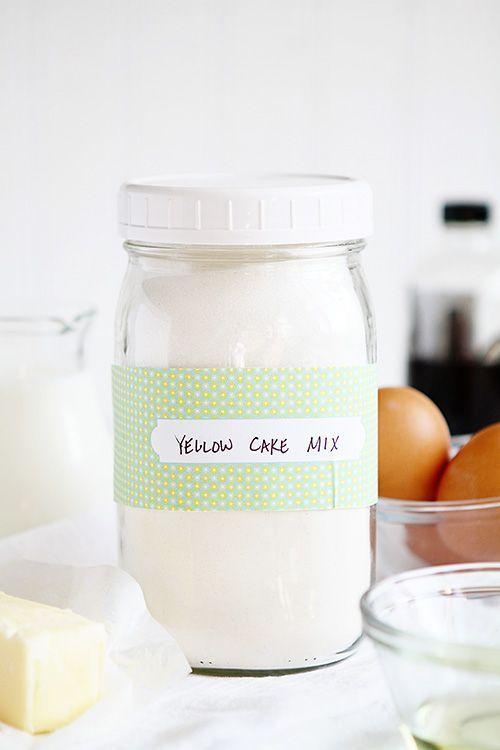 homemade yellow cake mix ~ http://iambaker.net