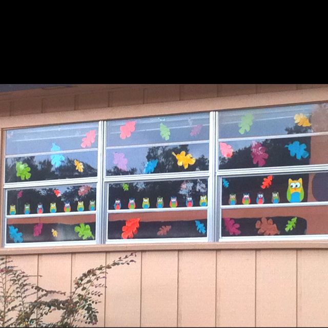 Classroom Windows Decoration Ideas : Fall window decoration for classroom pintrest inspired