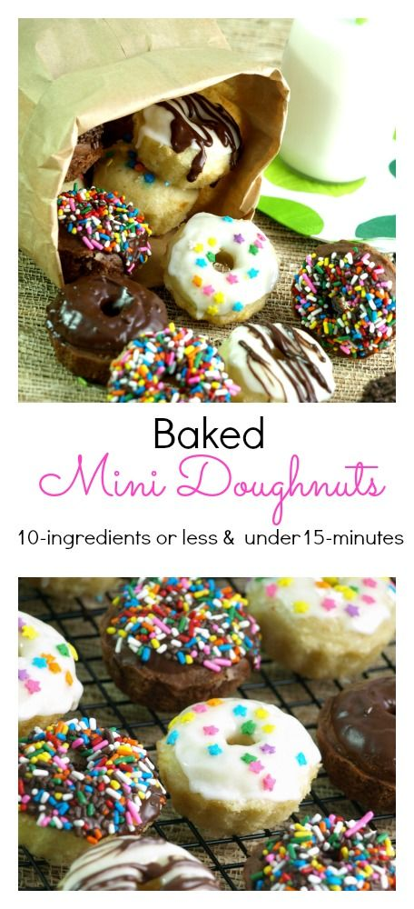 """Five minutes is all you need for the mini doughnuts with no need for rolling or a a special """"mini doughnut pan."""""""