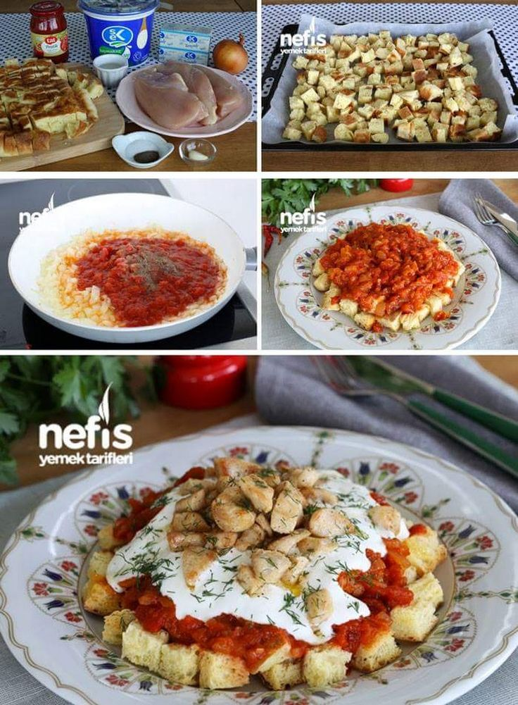 Tavuklu Tirit Malzemeler Bayat ekmek Sosu için; 1 kavanoz Doğranmış Domates 1 adet soğan 2 yemek kaşığı sıvı yağ Tuz Karabiber Tavuk için; 600 g tavuk g... - f. özbağ - Google+