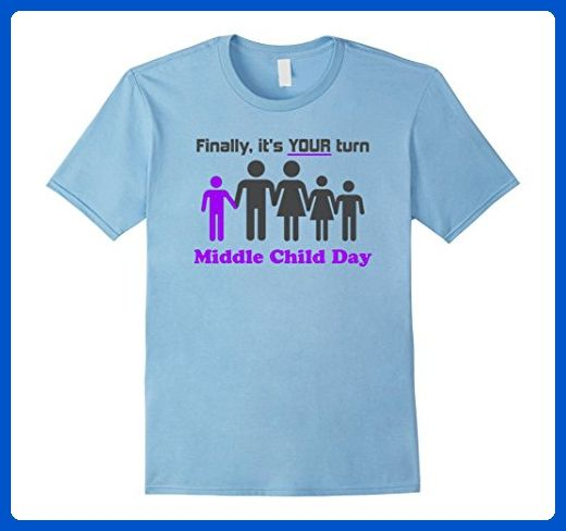 Mens National Middle Child Day Fun Boy Family Shirt Medium Baby Blue - Relatives and family shirts (*Amazon Partner-Link)