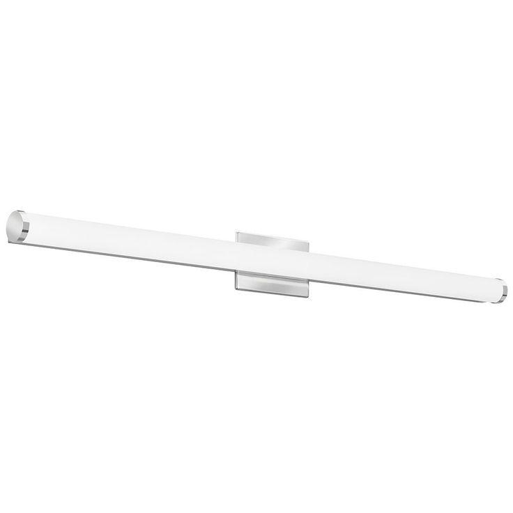 Lithonia Lighting Contemporary Cylinder 4 Foot Chrome 3K LED Vanity Light