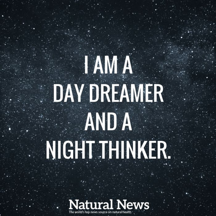 Late night thinking can bring the best revelations...