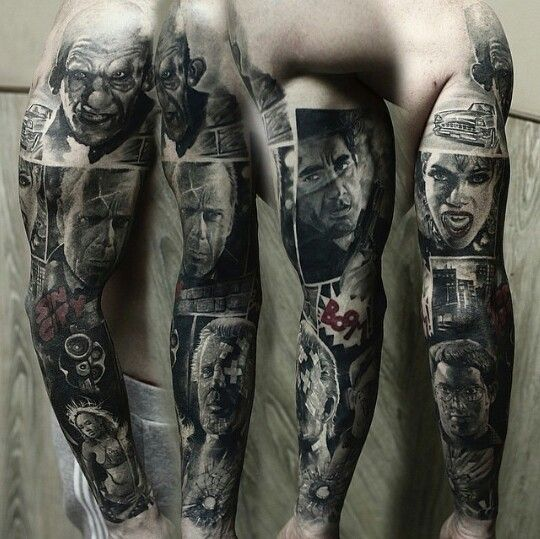 Portrait Sleeve Tattoo Designs: Portrait Tattoo Sleeve By Shevchenko Evgeny. Located In