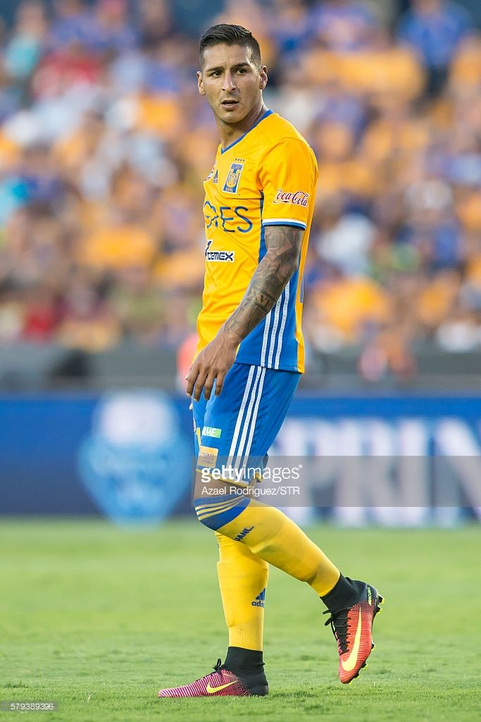 Ismael Sosa of Tigres looks on during the 2nd round match between Tigres UANL and Atlas as part of the Torneo Apertura 2016 Liga MX at Universitario Stadium on July 23, 2016 in Monterrey, Mexico.