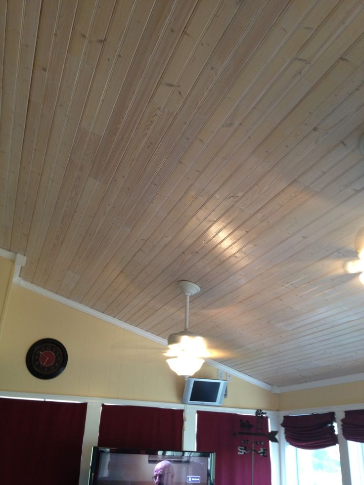 Pickled Pine Ceiling In Our Sunroom Stuff I Made