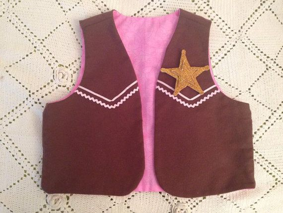 Cow Girl Sheriff Vest callie costume by Sonorali on Etsy