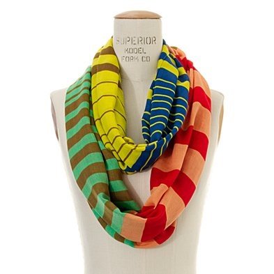 Striped Circle Scarf, Madewell: Stripes Circles, Circle Scarf, Fashion, Madewell Stripes, Style, Infinity Scarfs, Color, Scarves, Circles Scarfs