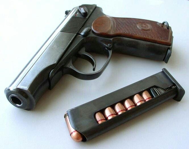The Makarov Pistol in 9x18mm.