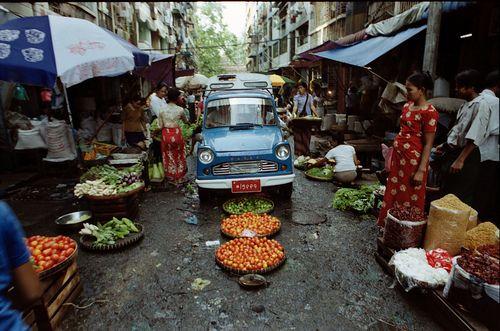 rangoon street market