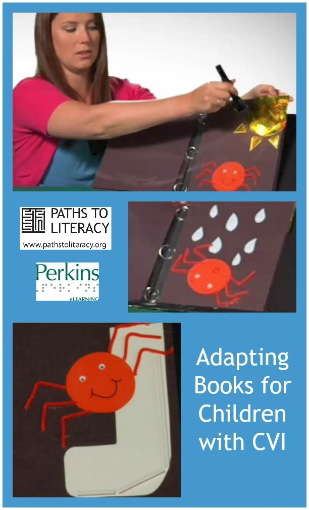 Adapting Itsy-Bitsy Spider Book for children with CVI (Cortical Visual Impairment)