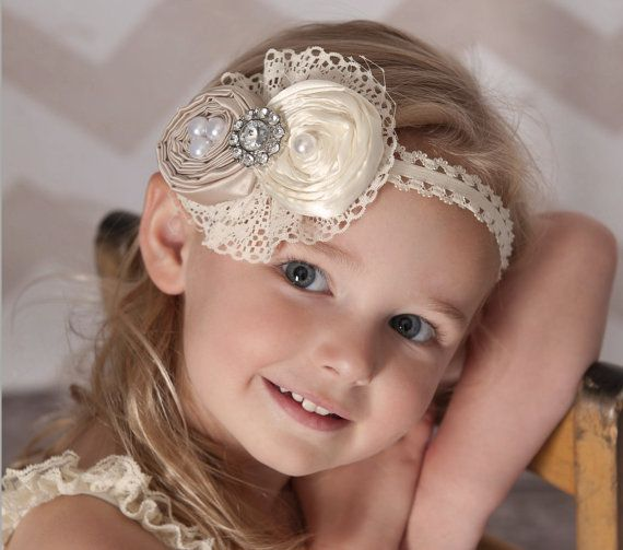 Flower Girl Headband Baby Headband Baby Headbands by KidsAmore, $15.00