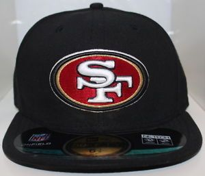 a nfl san francisco 49ers new era 59fifty cap 49ers on field fitted hat black