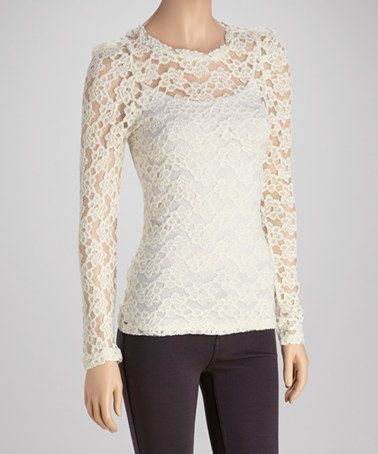 Cream Lace Blouse | Fashion Ql