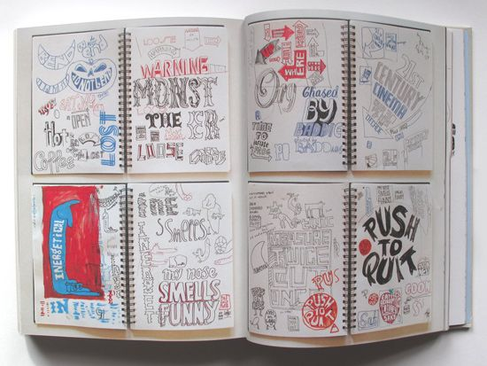 Andy Smith Illustrator Blog: Typographic Sketch Books: Sketchbooks, Illustration, Sketchbook Layout, Typographic Sketch, Sketch Books, Altered Journals, Sketchbook Ideas, Art Journaling, Sketchbook Inspiration