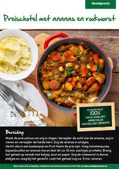 Recept voor preischotel met ananas en rookworst #Lidl