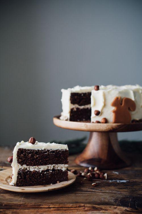 chocolate hazelnut cake with vanilla hazelnut buttercream | my name is yeh
