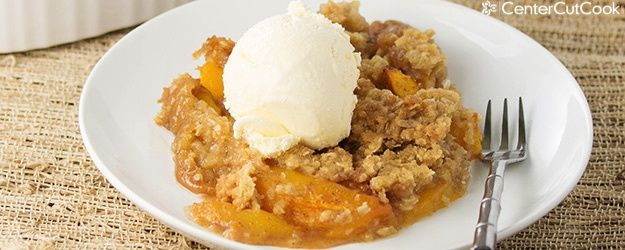 Fresh Peach Crisp from CenterCutCook
