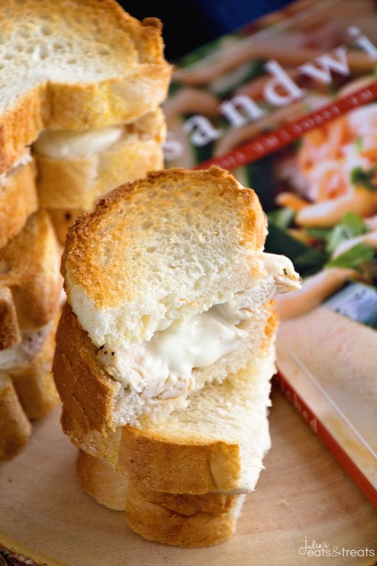 Chicken Alfredo Sandwich Recipe ~ Delicious, Seasoned Chicken Smothered in Homemade Alfredo Sauce then Toasted to Perfection! Quick, Easy and Delicious Dinner or Lunch! ~ http://www.julieseatsandtreats.com