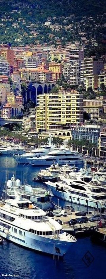 Monte Carlo Harbour ~ on the French Riviera