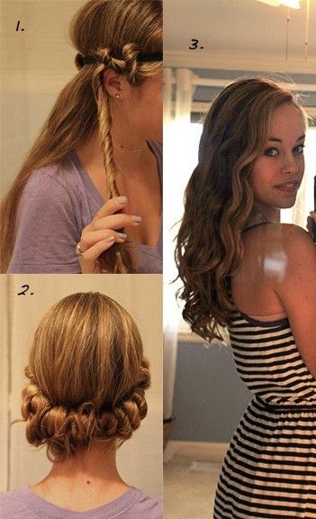 I might try this! [curl your Hair Style hairstyle girl hairstyle