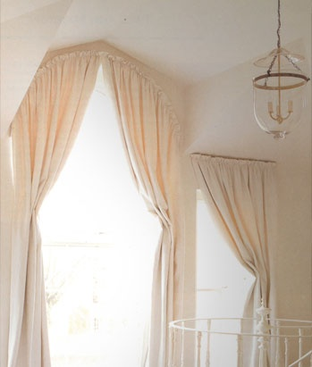 Rod Pocket Curtains on Arched Window
