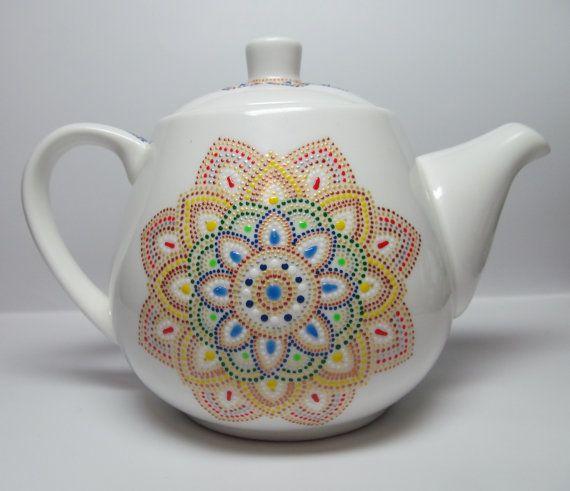 Чайник  Золотой лотос от MyLovelyFantasy на Etsy