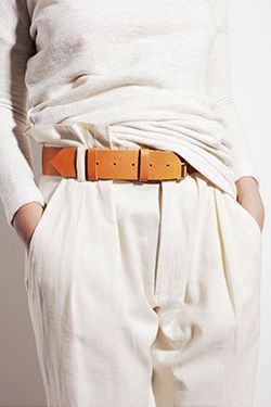 ivory + caramel, but a tighter fit