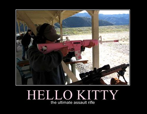 funny motivational posters | Funny Military Motivational Poster: Hello Kitty