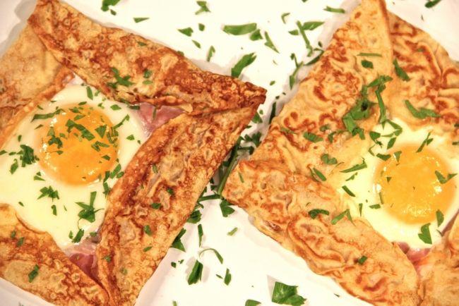 Eggs and Ham Crepe #eggs #ham #crepe #recipes #breakfast | Breakfast ...