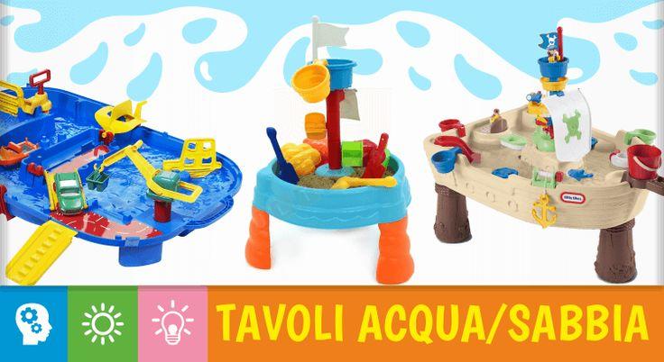 10 tavoli multiattività acqua e sabbia per un'estate ricca di divertimento Uno dei giocattoli più divertenti e interessanti che possiamo regalare ai nostri bambini è un tavolo acqua e sabbia. Questi meravigliosi giocattoli, pensati per stimolare l'attività motoria e la fant