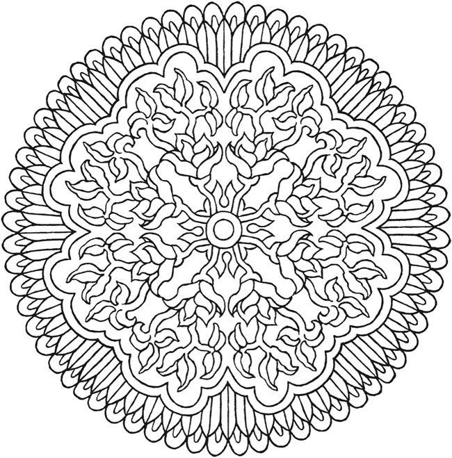 More Mystical Mandalas Coloring Book By The Illustrator Of Original Mandala Dover Publications Sample