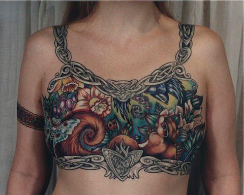 Post-mastectomy tattoos by Tina Bafaro. Photos by Bafaro.