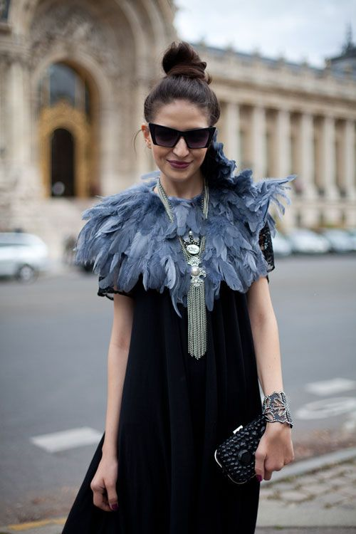 Feathered cape. Diy project with ostrich feathers