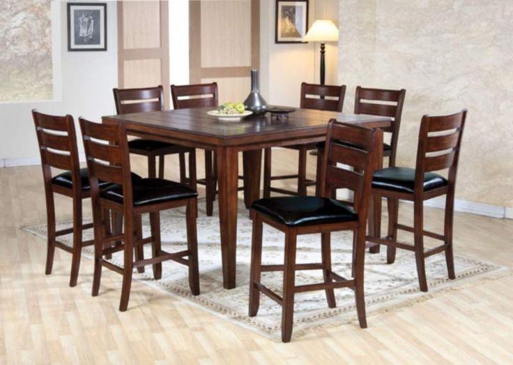 Acme Furniture - Urbana 9 Piece Counter Height Table Set in Espresso - 74630-9SET