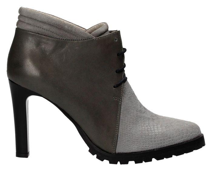 Szare Botki Damskie Nessi Boots Shoe Game Shoes