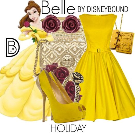You will be the Belle of you Holiday Balls in this outfit inspired by Beauty and the Beast.  | Disney Fashion | DisneyFashion Outfits | Disney Outfits | Disney Outfits Ideas | Disneybound Outfits |
